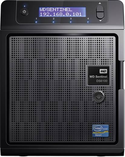 NAS-Server 16 TB Western Digital Sentinel DS6100 WDBWVL0160KBK-EESN Integriertes Display