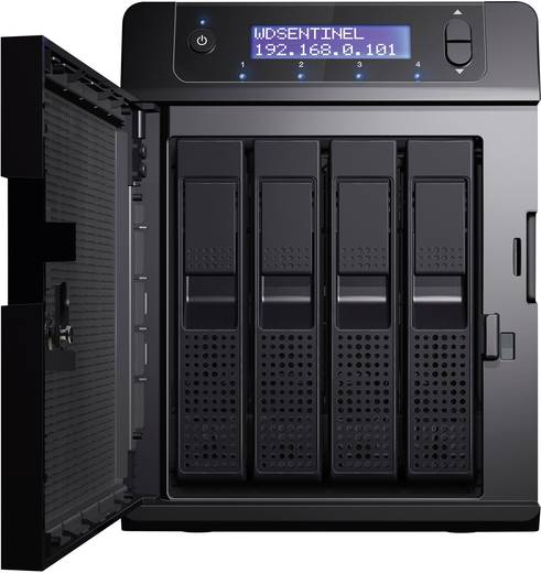 NAS-Server 12 TB Western Digital Sentinel DS6100 WDBWVL0120KBK-EESN Integriertes Display