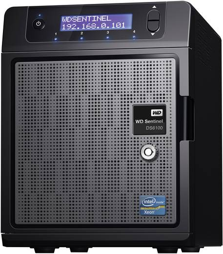 NAS-Server 8 TB Western Digital Sentinel DS6100 WDBWVL0080KBK-EESN Integriertes Display