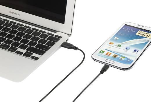 Renkforce USB 2.0 Anschlusskabel [1x USB 2.0 Stecker A - 1x USB 2.0 Stecker Micro-B] 1 m Schwarz SuperSoft-Ummantelung