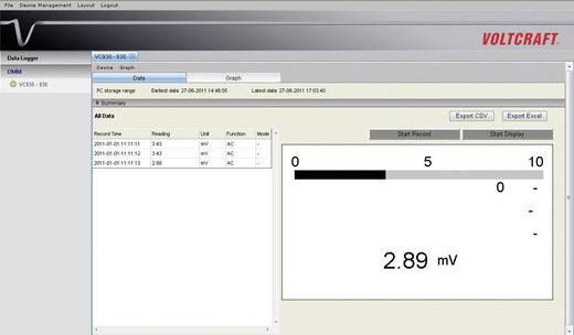 VOLTCRAFT VC611BT Tisch-Multimeter digital Kalibriert nach: DAkkS CAT II 600 V Anzeige (Counts): 6000