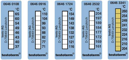 Temperaturmessstreifen testo testoterm 204 bis 260 °C