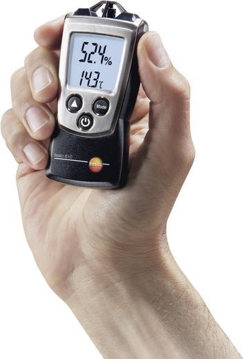 testo 610 Luftfeuchtemessgerät (Hygrometer) 0 % rF 100 % rF Taupunkt-/Schimmelwarnanzeige Kalibriert nach: Werksstandard