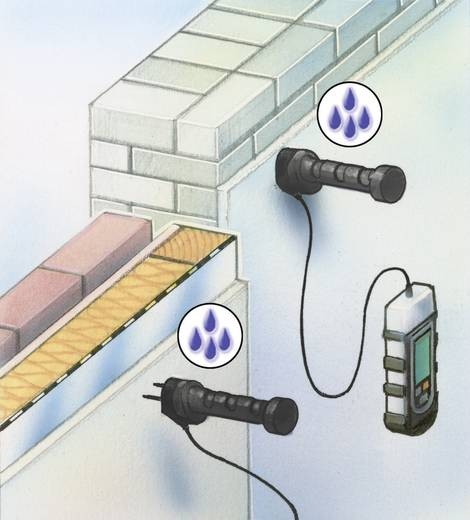 Materialfeuchtemessgerät Laserliner DampMaster Plus