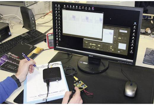 USB-Oszilloskop Velleman PCSU200 12 MHz 2-Kanal 25 MSa/s 4 kpts 8 Bit Digital-Speicher (DSO), Spectrum-Analyser, Funkti