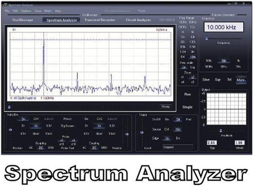 Velleman PCSU200 USB-Oszilloskop 12 MHz 2-Kanal 25 MSa/s 4 kpts 8 Bit Kalibriert nach DAkkS Digital-Speicher (DSO), Spec
