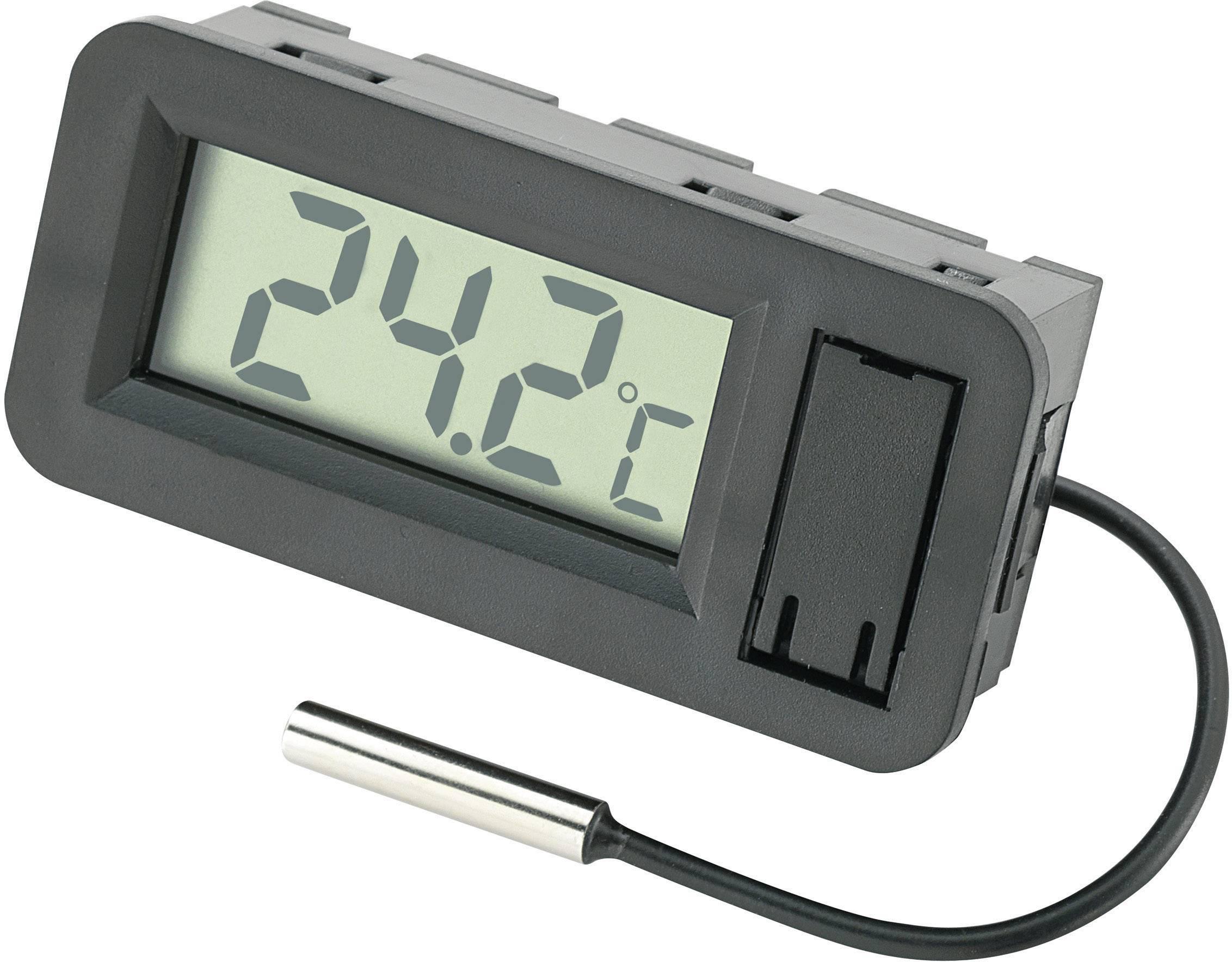 Thermometer mit Fühler 25 x 45 kleines einbau LCD