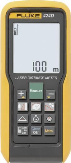 """Fluke 424D Laser-Entfernungsmesser Kalibriert nach ISO Stativadapter 6.3 mm (1/4"""") Messbereich (max.) 100 m"""