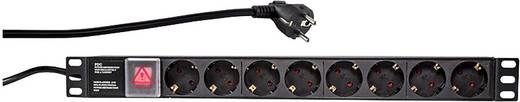 19 Zoll Netzwerkschrank-Steckdosenleiste 1 HE Schutzkontaktsteckdose LogiLink PDU8C01 mit Schalter Schwarz