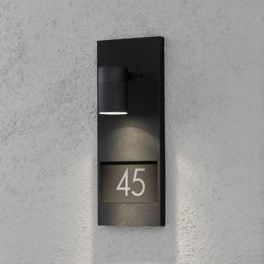 Hausnummernleuchte Halogen GU10 35 W Konstsmide Modena 7655-750 Schwarz