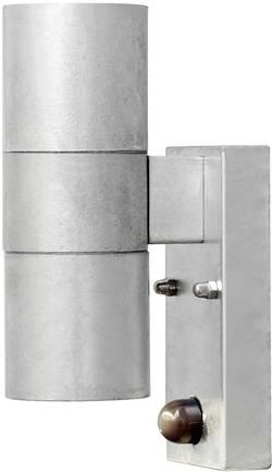 Venkovní nástěnné osvětlení s PIR detektorem Konstsmide Modena 7542-320, GU10, 70 W, ocel, poz
