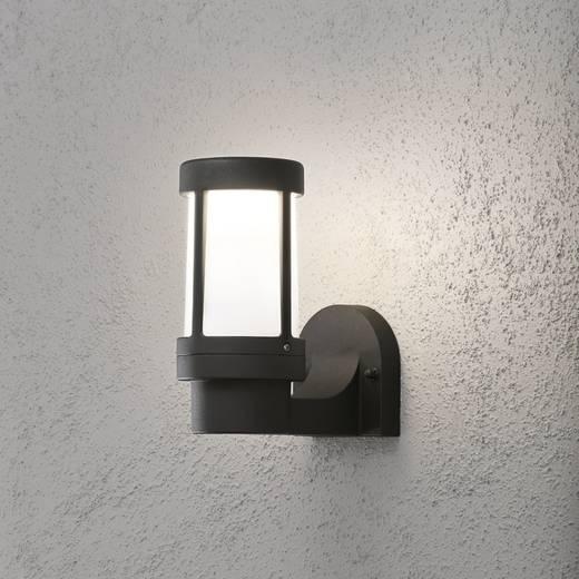 Außenwandleuchte Energiesparlampe, LED E27 60 W Konstsmide Siena 7513-752 Schwarz