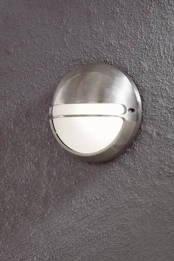 Konstsmide Torino 7333-000 Außenwandleuchte Energiesparlampe, LED E27 60 W Aluminium (gebürstet)