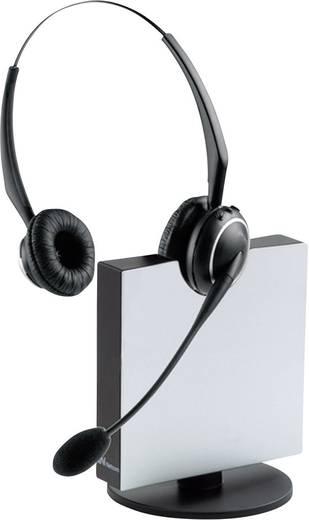 Telefon-Headset DECT schnurlos, Stereo Jabra GN9120 Duo Flexboom On Ear Schwarz, Silber