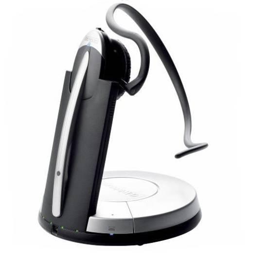 Telefon-Headset DECT schnurlos, Mono Jabra GN9350e On Ear Schwarz, Silber