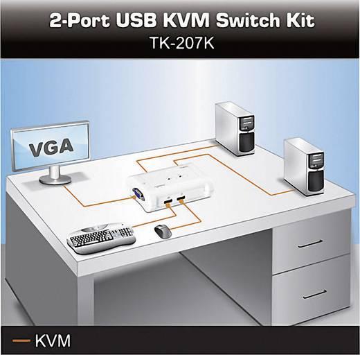 2 Port KVM-Umschalter VGA USB 2048 x 1536 Pixel TK-207K TrendNet
