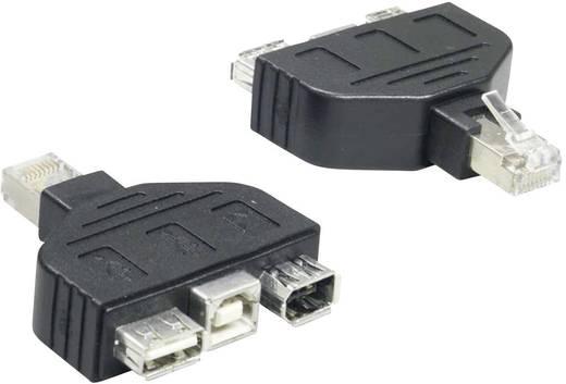 USB 2.0 Adapter [1x RJ45-Stecker - 1x USB 2.0 Buchse A, USB 2.0 Buchse B, Firewire (400) Buchse 4pol.] Schwarz TrendNet