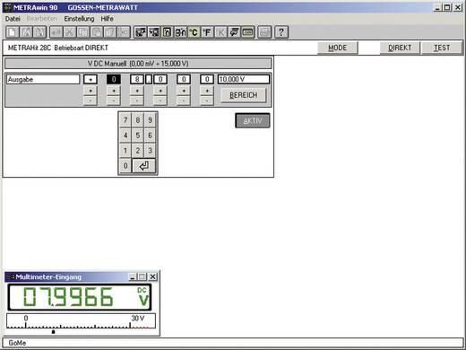 Gossen Metrawatt METRAWIN 90-2 Software zur Dokumentation,Verwaltung von Kalibrierergebnissen, zum Generieren von Kalibrierprozeduren und zur Fernsteuerung des Kalibrators.