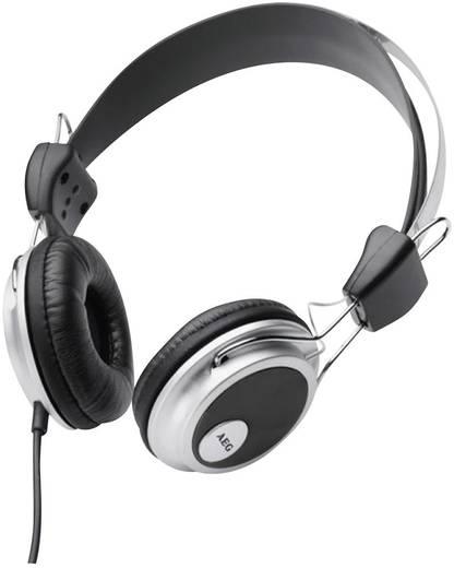 Kopfhörer AEG KH 4220 On Ear Schwarz, Silber