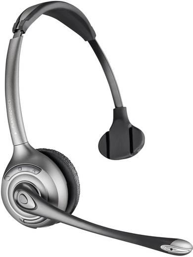 Telefon-Headset DECT schnurlos, Mono Plantronics Savi WH300 On Ear Schwarz, Silber