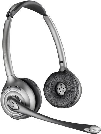 Telefon-Headset DECT schnurlos, Mono Plantronics Savi WH350 On Ear Schwarz, Silber