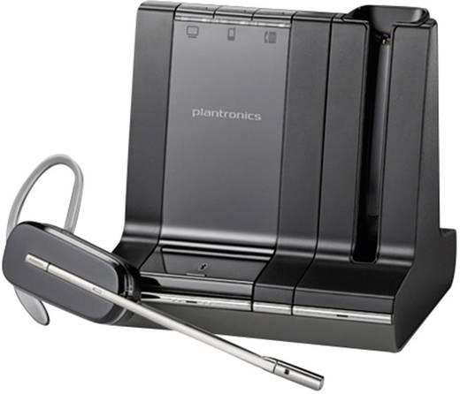 Telefon-Headset DECT schnurlos, Mono Plantronics Savi W740-M In Ear Schwarz, Silber