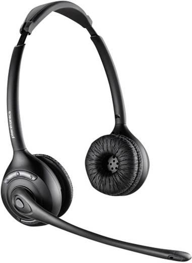 Telefon-Headset DECT schnurlos, Stereo Plantronics Savi W720 On Ear Schwarz