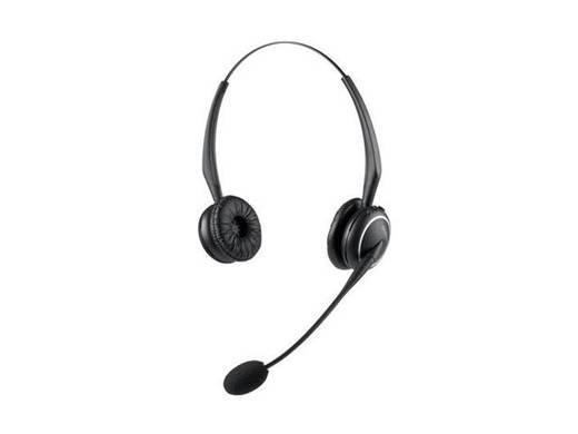 Telefon-Headset DECT schnurlos, Stereo Jabra GN9120 Flexboom On Ear Schwarz