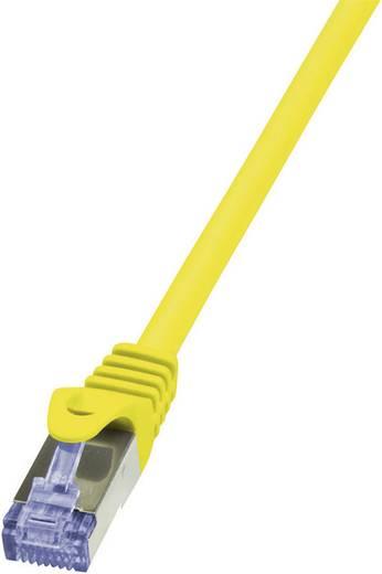 RJ45 Netzwerk Anschlusskabel CAT 6a S/FTP 1 m Gelb Flammwidrig, mit Rastnasenschutz LogiLink