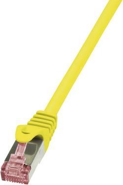 Câble réseau RJ45 CAT 6 S / FTP LogiLink - 2 connecteurs RJ45 - 1 m - Jaune - CQ2037S