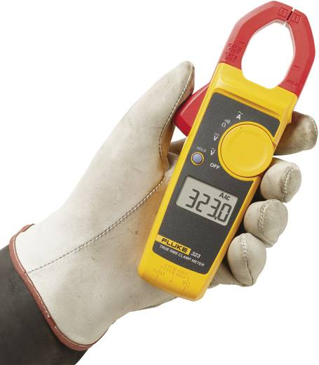 Stromzange, Hand-Multimeter digital Fluke Fluke 323 Kalibriert nach: Werksstandard CAT III 600 V, CAT IV 300 V Anzeige (Counts): 4000