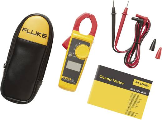 Fluke 323 Stromzange, Hand-Multimeter digital Kalibriert nach: DAkkS CAT III 600 V, CAT IV 300 V Anzeige (Counts): 4000