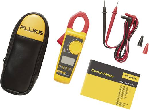 Stromzange, Hand-Multimeter digital Fluke 324 Kalibriert nach: Werksstandard (ohne Zertifikat) CAT III 600 V, CAT IV 30