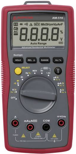 Hand-Multimeter digital Beha Amprobe AM-510-EUR Kalibriert nach: Werksstandard CAT III 600 V Anzeige (Counts): 4000