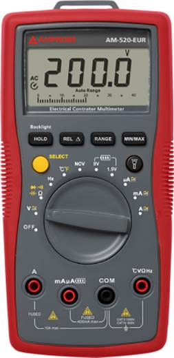 Hand-Multimeter digital Beha Amprobe AM-520-EUR Kalibriert nach: DAkkS CAT II 1000 V, CAT III 600 V Anzeige (Counts): 4