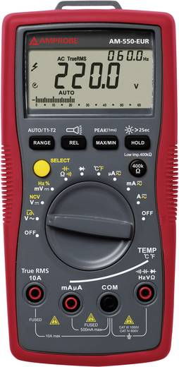 Hand-Multimeter digital Beha Amprobe AM-550-EUR Kalibriert nach: DAkkS CAT III 1000 V, CAT IV 600 V Anzeige (Counts): 6