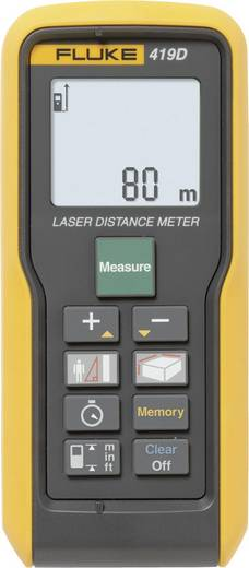 "Fluke Fluke 419D Laser-Entfernungsmesser Stativadapter 6.3 mm (1/4"") Messbereich (max.) 80 m Kalibriert nach: Werksstandard"