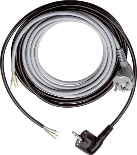 Strom Anschlusskabel [ Schutzkontakt-Winkelstecker - Kabel, offenes Ende] Schwarz 5 m LappKabel 70261160