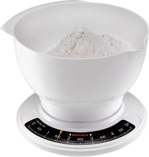 Test Küchenwaage Analog ~ küchenwaage analog, mit messschale soehnle culina pro wägebereich (max )=5 kg weiß kaufen