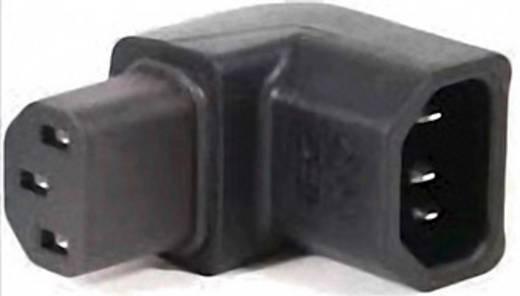 Netz-Adapter Kaltgeräte-Buchse C13 - Kaltgeräte-Stecker C14 Gesamtpolzahl: 2 + PE Schwarz IEC13214-R 1 St.