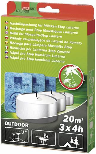 Nachfüllset Swissinno Refill Mosquito-Stop Passend für Marke Swissinno Mücken-Stopp-Laterne 3 Set