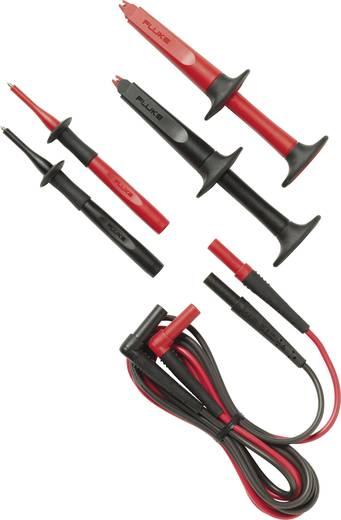 Sicherheits-Messleitungs-Set [ Lamellenstecker 4 mm - Lamellenstecker 4 mm] 1.5 m Schwarz, Rot Fluke TL223-1