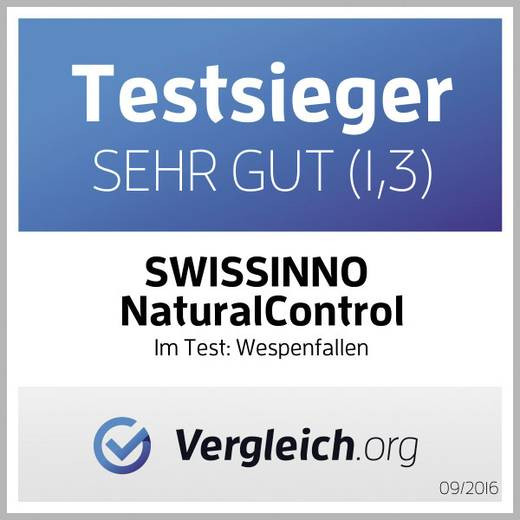 Wespenfalle Swissinno Natural Control outdoor 1 343 001K Gelb (transparent) 1 St.