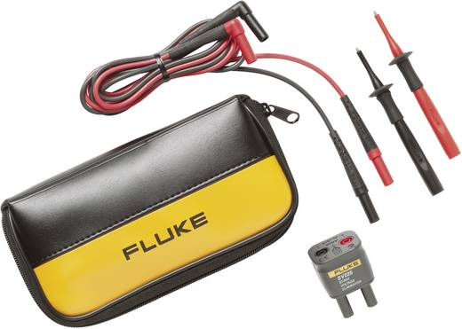 Fluke TL225-1 Sicherheits-Messleitungs-Set [Lamellenstecker 4 mm - Lamellenstecker 4 mm] 1.5 m Schwarz, Rot