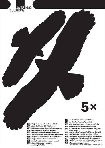 Fensteraufkleber Vogelbild Swissinno Bird sticker Abschreckung 5 St.