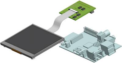 Raspberry Pi® display unit C-Berry Raspberry Pi®