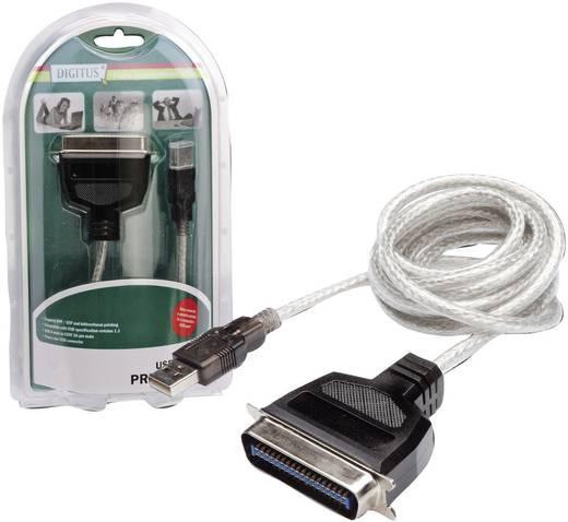 USB 1.1 Anschlusskabel [1x USB 1.1 Stecker A - 1x Centronics-Stecker] 1.8 m Transparent Digitus