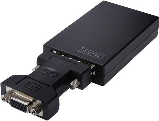 USB / DVI Adapter [1x USB 2.0 Buchse Mini-B - 1x DVI-Buchse 24+5pol.] Schwarz Digitus