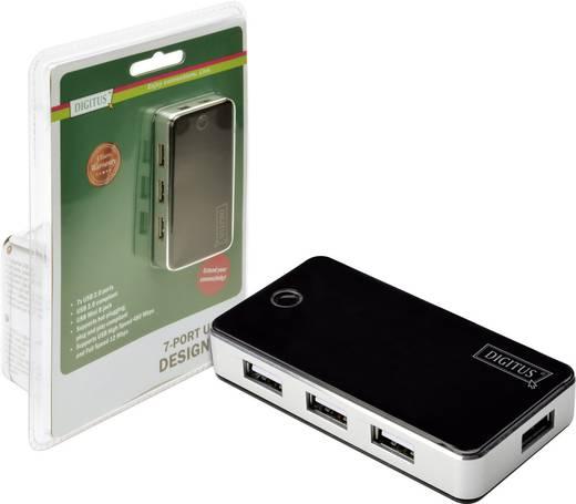 Digitus DA-70222 7 Port USB 2.0-Hub Schwarz/Silber