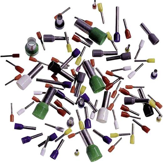 Aderendhülse 1 x 1 mm² x 12 mm Teilisoliert Rot LappKabel 61801690 500 St.
